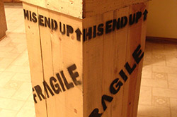 Crate containing Leg Lamp